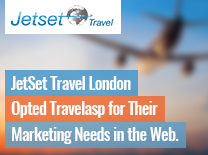 JetSet Travel London Opted Travelaps For Their Marketing Needs In The Web.